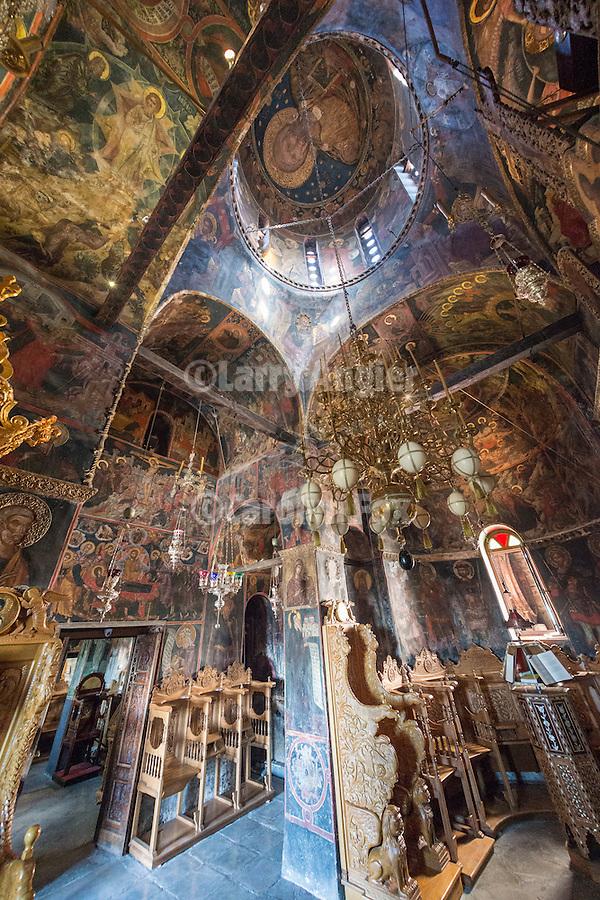 Interior of All Saints Church, Varlaam Monastery, Meteora, Greece..XVI century
