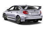 Car pictures of rear three quarter view of 2021 Subaru WRX-STI - 4 Door Sedan Angular Rear