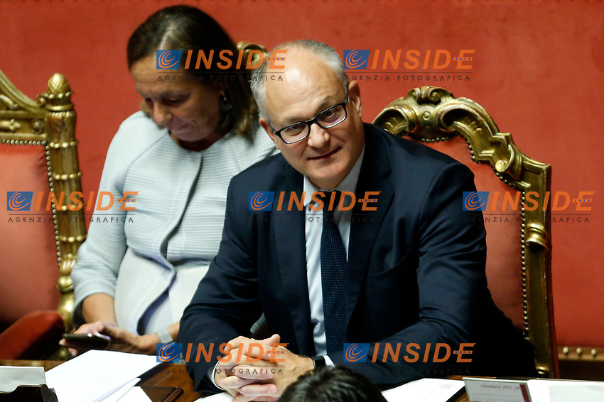 Luciana Lamorgese and Roberto Gualtieri<br /> Rome September 10th 2019. Senate. Discussion and Trust vote at the new Government. <br /> Foto  Samantha Zucchi Insidefoto