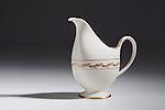 White china pitcher.