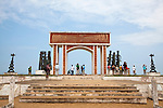 The Gate of No Return, a UNESCO World Heritage Site, is one of several monuments on the beach of Ouidah, Benin.  In the 18th and 19th centuries, this historic town was the center of the Kingdom of Dahomey and hub of the slave trail.