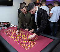 Pictured: Henry Jones and James Demetriou<br /> Re: Swansea City FC Christmas party at the Liberty Stadium, south Wales, UK.