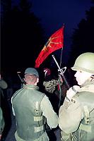 1990 FILE PHOTO (Exact date unknown):  OKA Crisis -  TC SIege<br /> <br /> <br /> <br /> <br /> PHOTO :  Agence Quebec Presse - <br /> Robert Galbraith