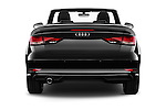 Straight rear view of 2017 Audi A3-Cabriolet Design 2 Door Convertible Rear View  stock images