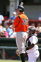 April 22nd, 2007:  Nolan Reimold of the Bowie Baysox, Class-AA affiliate of the Baltimore Orioles at Jerry Uht Park in Erie, PA.  Photo by:  Mike Janes/Four Seam Images