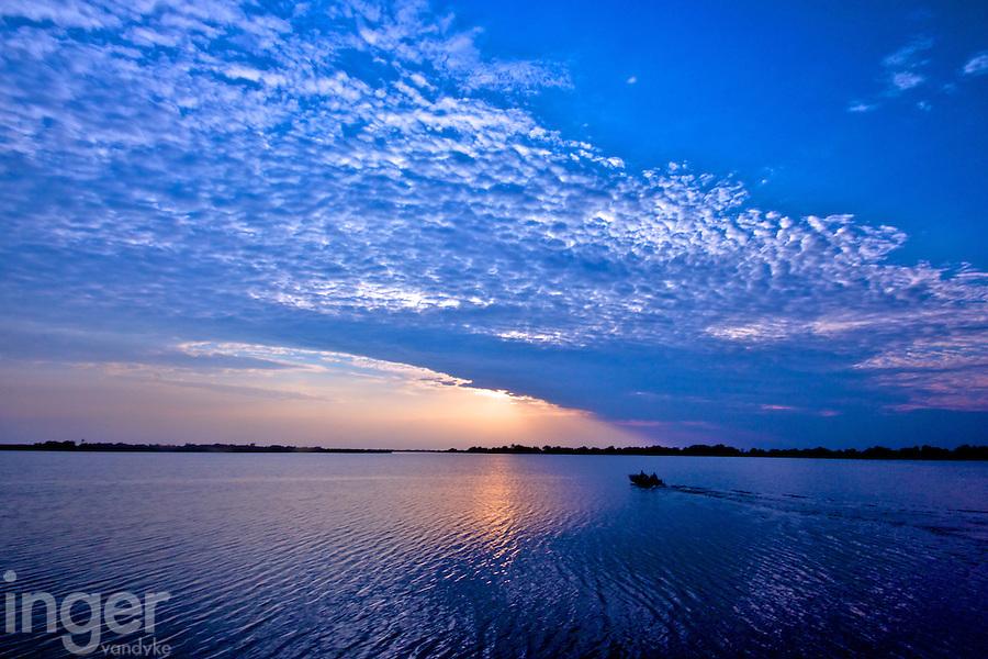 Sunrise in the Okavango Delta from Guma Lagoon Camp, Botswana