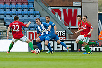 Tuesday, 7 May 2013<br /> <br /> Pictured: ?ngel Rangel of Swansea City,Callum McManaman of Wigan Athletic, Ben Davies and Leon Britton of Swansea City<br /> <br /> Re: Barclays Premier League Wigan Athletic v Swansea City FC  at the DW Stadium, Wigan