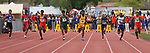 Competitors run the 4A 100-meter dash during the NIAA Track & Field Championships at Carson High in Carson City, Nev., on Friday, May 18, 2018. <br /> Photo by Cathleen Allison/Nevada Momentum