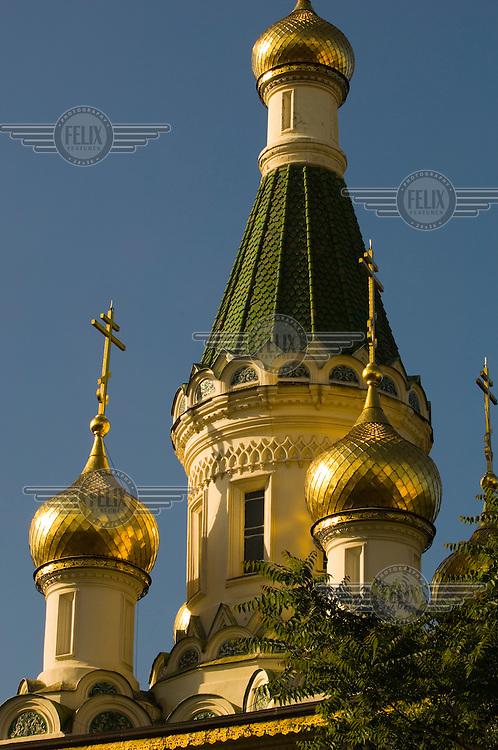 The Russian Church of St Nicholas in Sofia, Bulgaria.