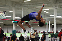 WINSTON-SALEM, NC - FEBRUARY 07: Keith Williams of Duke University competes in the Men's High Jump at JDL Fast Track on February 07, 2020 in Winston-Salem, North Carolina.