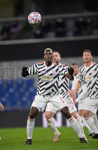 4th November 2020, Basaksehir Fatih Stadium, Istanbul, Turkey; UEFA Champions League football,  Basaksehir versus manchester United;   Paul Pogba of Manchester United