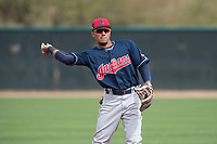 Cleveland Indians shortstop Elvis Perez (23) during a Minor League Spring Training game against the Chicago White Sox at Camelback Ranch on March 16, 2018 in Glendale, Arizona. (Zachary Lucy/Four Seam Images)
