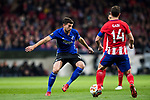 Andrija Pavlovic (L) of FC Copenhague fights for the ball with Gabriel Fernandez Arenas, Gabi, of Atletico de Madrid during the UEFA Europa League 2017-18 Round of 32 (2nd leg) match between Atletico de Madrid and FC Copenhague at Wanda Metropolitano  on February 22 2018 in Madrid, Spain. Photo by Diego Souto / Power Sport Images