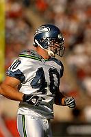 Nov. 6, 2005; Tempe, AZ, USA; Safety (40) John Howell of the Seattle Seahawks against the Arizona Cardinals at Sun Devil Stadium. Mandatory Credit: Mark J. Rebilas