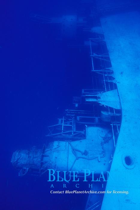 Spiegel Grove a 510 foot U.S. Navy Landing Ship Dock (LSD), the largest artifitial reef ever created, Key Largo, Florida, Atlantic Ocean
