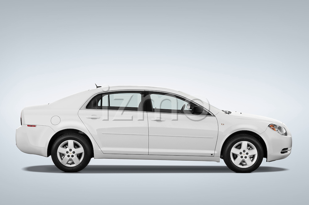 Passenger side profile view of a 2008 Chevrolet Malibu Sedan