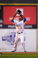 Chattanooga Lookouts shortstop Jorge Polanco (11) catches a pop up during a game against the Jacksonville Suns on April 30, 2015 at AT&T Field in Chattanooga, Tennessee.  Jacksonville defeated Chattanooga 6-4.  (Mike Janes/Four Seam Images)