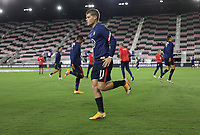 FORT LAUDERDALE, FL - DECEMBER 09: Chris Mueller #11 of the United States warming up during a game between El Salvador and USMNT at Inter Miami CF Stadium on December 09, 2020 in Fort Lauderdale, Florida.
