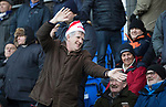 St Johnstone v Hearts…23.12.17…  McDiarmid Park…  SPFL<br />A saints fan get into the christmas spirit<br />Picture by Graeme Hart. <br />Copyright Perthshire Picture Agency<br />Tel: 01738 623350  Mobile: 07990 594431