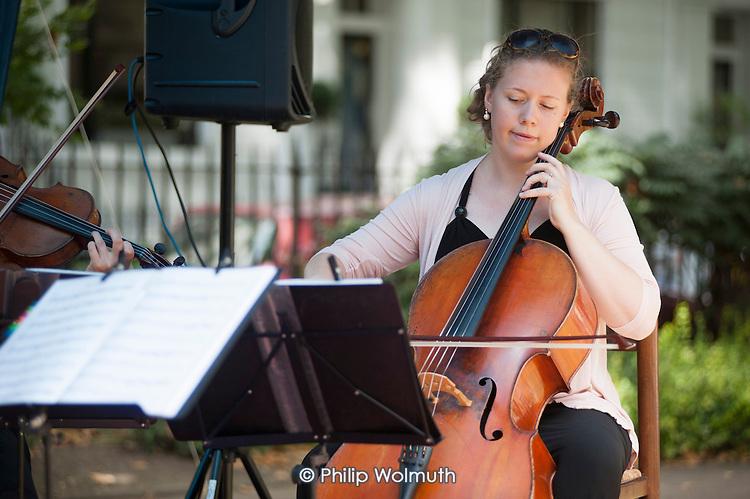Tyburn String Quartet, Sounds & BItes Festival 2014, Norfolk Square, Paddington.