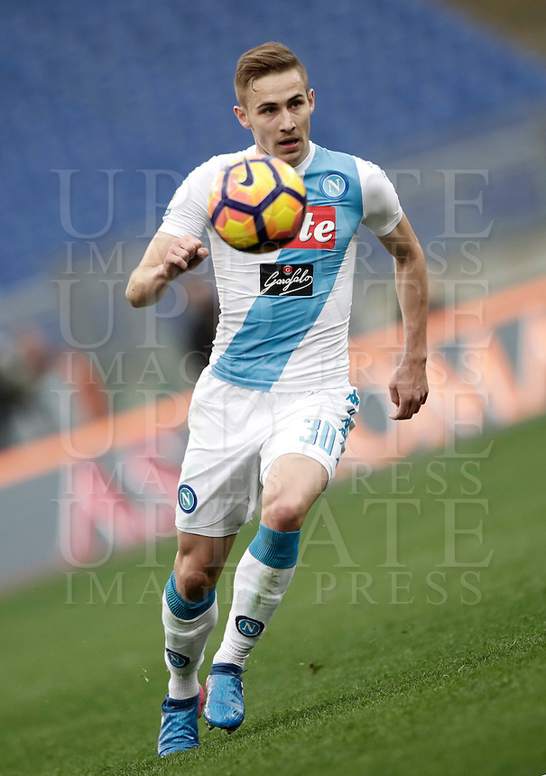Napoli's Marko Rog in action during the Italian Serie A football match between Roma and Napoli at Rome's Olympic stadium, 4 March 2017. <br /> UPDATE IMAGES PRESS/Isabella Bonotto