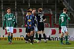 13.01.2021, xtgx, Fussball 3. Liga, VfB Luebeck - SV Waldhof Mannheim emspor, v.l. Marcel Costly (Mannheim, 17) Jubel ueber den Sieg, Jubel nach Spielende <br /> <br /> (DFL/DFB REGULATIONS PROHIBIT ANY USE OF PHOTOGRAPHS as IMAGE SEQUENCES and/or QUASI-VIDEO)<br /> <br /> Foto © PIX-Sportfotos *** Foto ist honorarpflichtig! *** Auf Anfrage in hoeherer Qualitaet/Aufloesung. Belegexemplar erbeten. Veroeffentlichung ausschliesslich fuer journalistisch-publizistische Zwecke. For editorial use only.