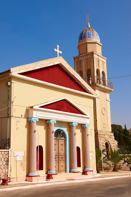 Neo Classical Orthodox churches. Kefalonia, Ionian Islands, Greece.