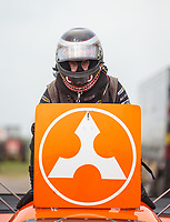 Apr 13, 2019; Baytown, TX, USA; NHRA funny car driver Jonnie Lindberg during qualifying for the Springnationals at Houston Raceway Park. Mandatory Credit: Mark J. Rebilas-USA TODAY Sports