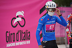 Maglia Azzurra Ruben Guerreiro (POR) EF Pro Cycling at sign on before the start of Stage 12 of the 103rd edition of the Giro d'Italia 2020 running 204km from Cesenatico to Cesenatico, Italy. 15th October 2020.  <br /> Picture: LaPresse/Gian Mattia D'Alberto | Cyclefile<br /> <br /> All photos usage must carry mandatory copyright credit (© Cyclefile | LaPresse/Gian Mattia D'Alberto)