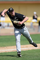 March 13, 2010:  Third Baseman Shaun Wixted of Army vs. Long Island University Blackbirds in a game at Henley Field in Lakeland, FL.  Photo By Mike Janes/Four Seam Images