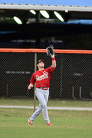 St. Louis Cardinals outfielder Rowan Wick (40) during a minor league spring training game against the New York Mets on March 27, 2014 at the Port St. Lucie Training Complex in St. Lucie, Florida.  (Mike Janes/Four Seam Images)
