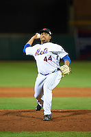 Scottsdale Scorpions pitcher Corey Taylor (44), of the New York Mets organization, during a game against the Mesa Solar Sox on October 17, 2016 at Scottsdale Stadium in Scottsdale, Arizona.  Mesa defeated Scottsdale 12-2.  (Mike Janes/Four Seam Images)