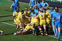 2nd May 2021; Stade Marcel-Deflandre, La Rochelle, France. European Champions Cup Rugby La Rochelle versus Leinster Semi-Final;  Will SKELTON of STADE ROCHELAIS goes over for his try