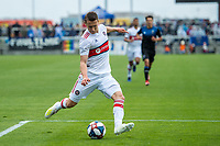 SAN JOSE, CA - MAY 18:  Przemysław Frankowski #11 of the Chicago Fire during a Major League Soccer (MLS) match between the San Jose Earthquakes and the Chicago Fire on May 18, 2019 at Avaya Stadium in San Jose, California.