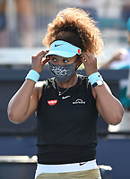 MIAMI GARDENS, FL - MARCH 29: Naomi Osaka Vs Elise Mertens at the 2021Miami Open at Hard Rock Stadium on March 29, 2021 in Miami Gardens, Florida. <br /> CAP/MPI04<br /> ©MPI04/Capital Pictures