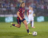 EAST HARTFORD, CT - JULY 1: Lindsey Horan #9 of the USWNT dribbles during a game between Mexico and USWNT at Rentschler Field on July 1, 2021 in East Hartford, Connecticut.