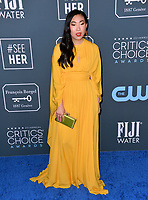 SANTA MONICA, USA. January 12, 2020: Awkwafina  at the 25th Annual Critics' Choice Awards at the Barker Hangar, Santa Monica.<br /> Picture: Paul Smith/Featureflash