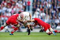 Photo: Richard Lane/Richard Lane Photography. England v Wales. RBS Six Nations. 09/03/2014. England's Ben Morgan attacks.