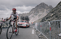 Bauke Mollema (NED/Trek-Segafredo) up the highest point in the 2017 TdF: The Galibier (HC/2642m/17.7km/6.9%)<br /> <br /> 104th Tour de France 2017<br /> Stage 17 - La Mure › Serre-Chevalier (183km)