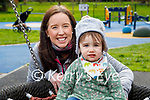 Enjoying the playground in the Tralee town park on Monday, l to r: Robyn and Fiona Jeewoomarain.