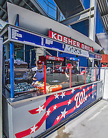 14 April 2013: A Kosher Grill offers food selections during a game between the Atlanta Braves and the Washington Nationals at Nationals Park in Washington, DC. The Braves shut out the Nationals 9-0 to sweep their 3-game series. Mandatory Credit: Ed Wolfstein Photo *** RAW (NEF) Image File Available ***