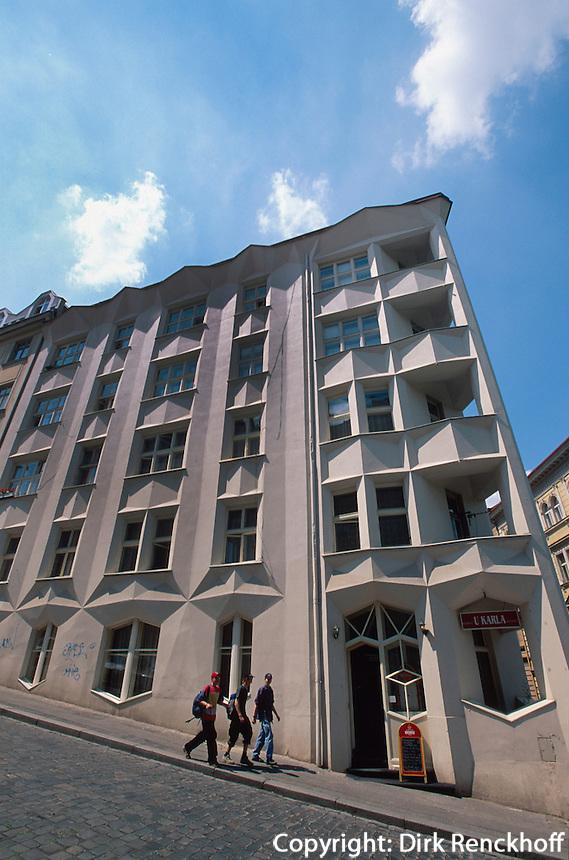 kubistisches Haus in der Neklova 30, Prag, Tschechien, Unesco-Weltkulturerbe