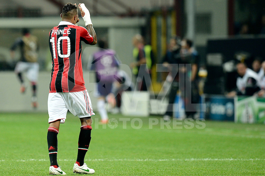Football: Champions League, AC Mailand, Milan, 18.09.2012<br /> Kevin Prince Boateng<br /> ©pixathlon<br /> ITA AND FRA OUT !