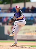 Dr. Krop Lightning pitcher Brenden Katz during the 42nd Annual FACA All-Star Baseball Classic on June 6, 2021 at Joker Marchant Stadium in Lakeland, Florida.  (Mike Janes/Four Seam Images)