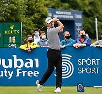 2nd July 2021; Mount Juliet Golf Club, Kilkenny, Ireland; Dubai Duty Free Irish Open Golf, Day Two; Niall Kearney of the Republic of Ireland tees off  on the 10th hole