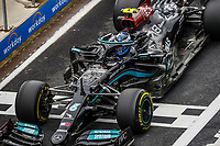 9th October 2021; Formula 1 Turkish Grand Prix 2021 Qualifying sessions at the Istanbul Park Circuit, Istanbul;   77 BOTTAS Valtteri fin, Mercedes AMG F1 GP W12 E Performance takes front grid for the race