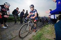 Sylvain Chavanel (FRA/IAM) up the Paterberg (max 20%)<br /> <br /> 57th E3 Harelbeke 2014