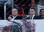 KIng Juan Carlos I of Spain and the Lehendakari (President) of the Goverment of Basque Country Inigo Urkullu (r) during the Spanish Basketball King's Cup Final match.February 07,2013. (ALTERPHOTOS/Acero)
