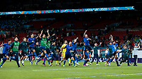 210707 -- LONDON, July 7, 2021 -- Players of Italy celebrate after winning the semifinal between Italy and Spain at the UEFA EURO, EM, Europameisterschaft,Fussball 2020 in London, Britain, on July 6, 2021.  SPBRITAIN-LONDON-FOOTBALL-UEFA EURO 2020-SEMIFINALS-ITALY VS SPAIN HanxYan PUBLICATIONxNOTxINxCHN <br /> Photo Imago/Insidefoto ITA ONLY