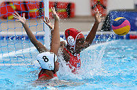 BARRANQUILLA - COLOMBIA, 26-07-2018: Cuba y Puerto Rico durante su participación en la polo acuático femenino como parte de los Juegos Centroamericanos y del Caribe Barranquilla 2018. /  Cuba and Puerto Rico during their participation in women's waterpolo of the Central American and Caribbean Sports Games Barranquilla 2018. Photo: VizzorImage /  Cont